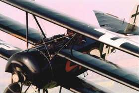 Close up of a Fokker DR.1 Dreidekker