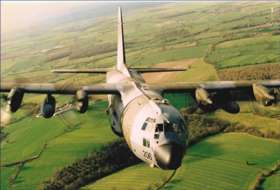 RAF Hercules - Low level over Wiltshire